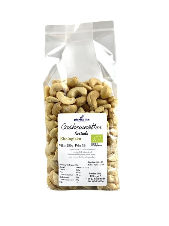 Cashewnötter rostade Ekologiska 250g