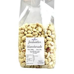 Jordnötter naturella och blancherade 500g