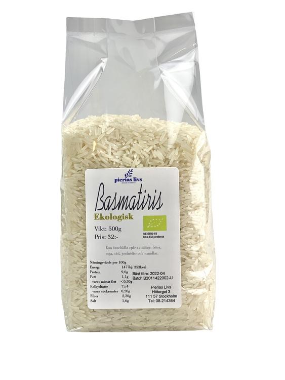 Basmatiris vitt Ekologiskt 500g