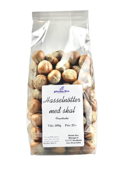 Hasselnötter med skal 200g