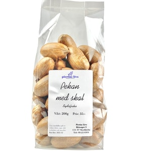 Pekannötter med skal 200g