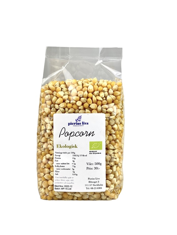 Popcorn Ekologisk 500g