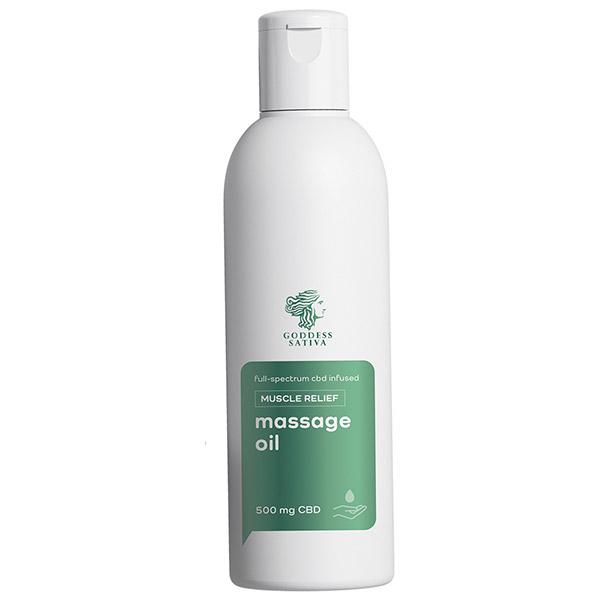 Massage Oil Muscle Relief CBD 200 ml
