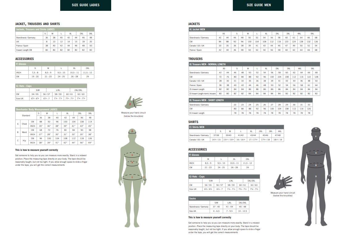 Storleksguide - Jakt & Vildmark