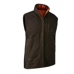 Gamekeeper Bonded Fleece Waistcoat, reversible