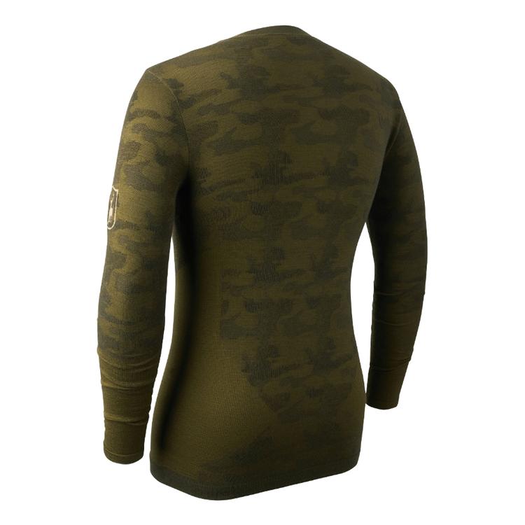 Camou Wool Undershirt w. zip-neck