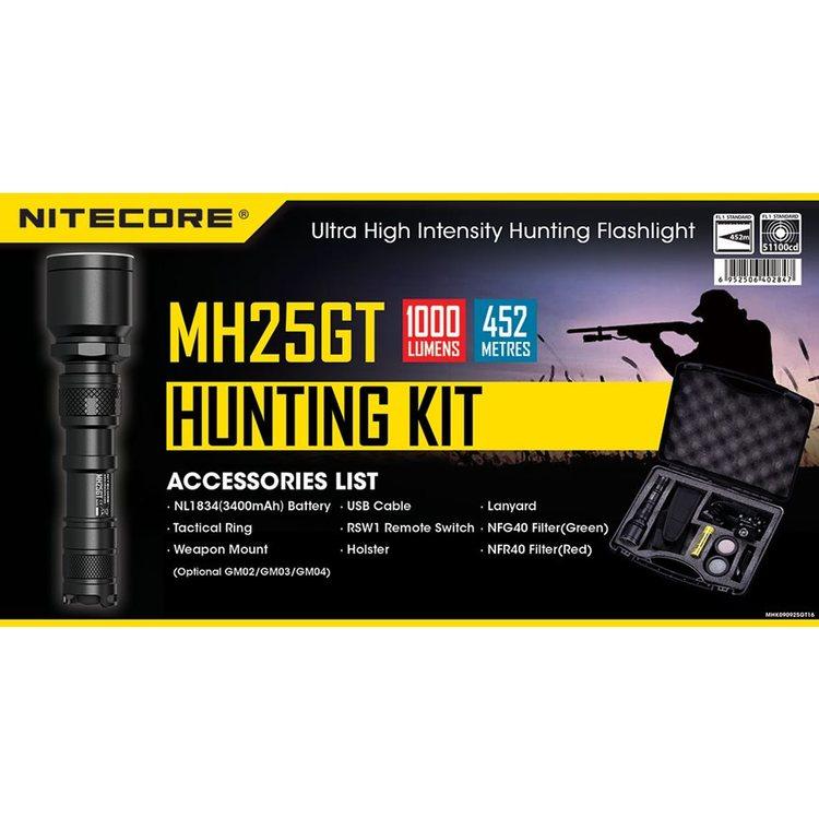 NITECORE MH25GT HUNTING KIT 1000LM