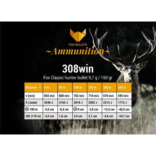 Fox Classic Hunter 308win - 150gr