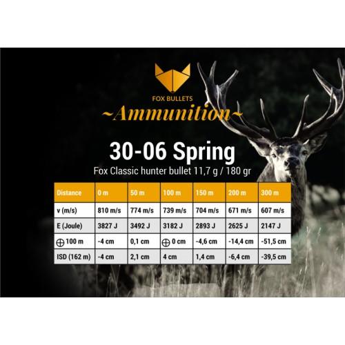 Fox Classic Hunter 30-06 Spring - 180gr