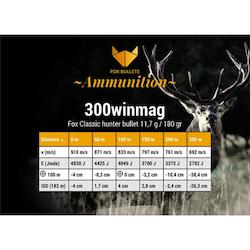Fox Classic Hunter 300winmag - 180gr