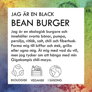 BLACK BEAN BURGER 500g