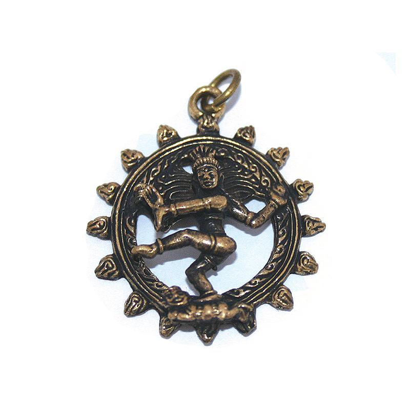 Shivas dans, halsband med hänge i brons
