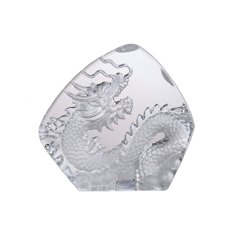 Drake i kristallglas, 15 cm