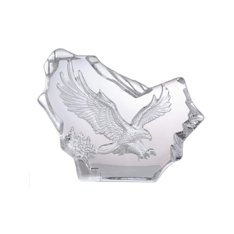 Örn i kristallglas, 15 cm