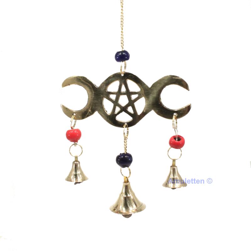 Vindspel med Triple Moon och Pentagram