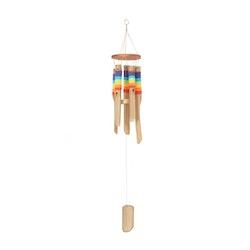 Vindspel, bambu regnbågsfärgad