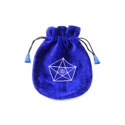 Tarotpåse i sammet - Tre Pentagram