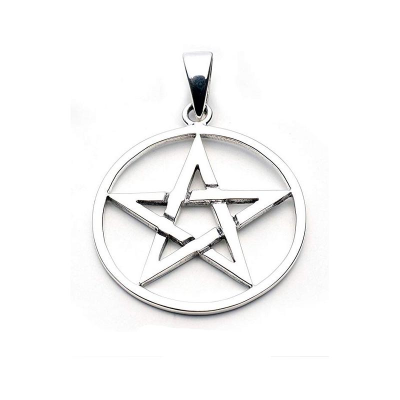 Pentagram i silver 30 mm