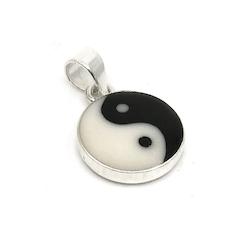 Hänge Yin & Yang, silver