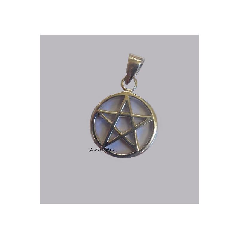 Pentagram, hänge i silver 17 mm