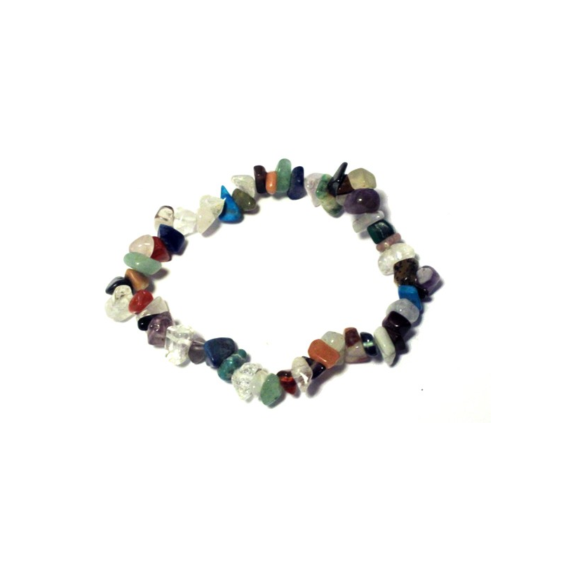Chipsarmband mixade stenar