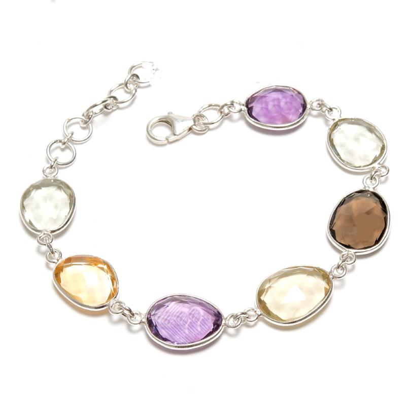 Armband i silver med kristaller