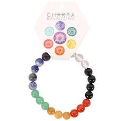 Armband - Chakra, runda stenar