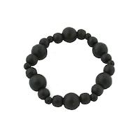 Armband - trä, svart