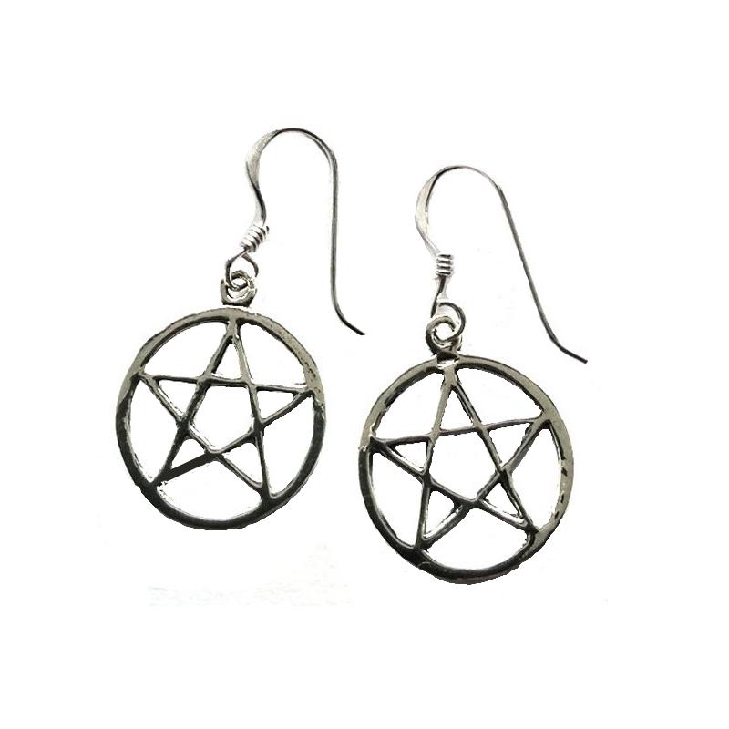 Örhängen, Pentagram 1,5cm
