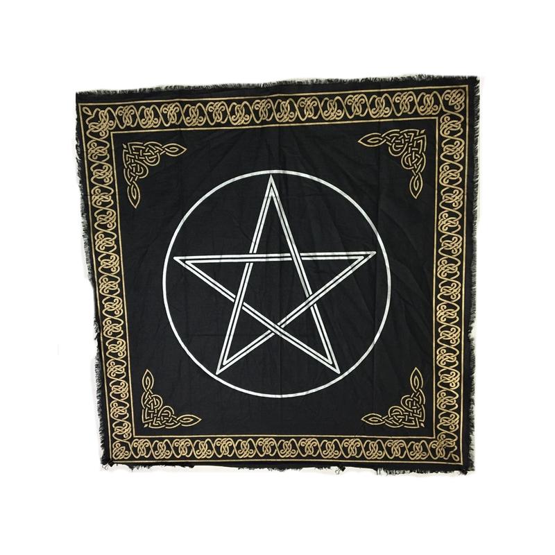 Altarduk, keltisk med pentagram