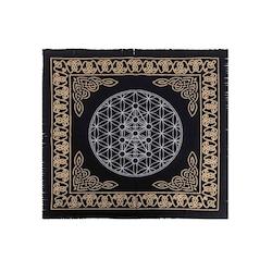 Altarduk, keltisk med livets blomma