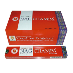 Golden Nag Champa 15g - rökelsepinnar