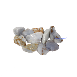 Kalcedon blå, trumlad
