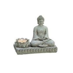 Buddhastaty med ljushållare