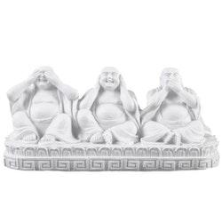 Tre Buddha. Ser inget, hör inget, säger inget ont.