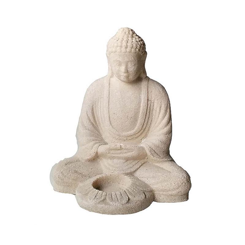 Buddhastaty, för värmeljus