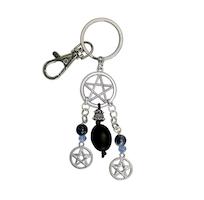 Nyckelring med Pentagram och Sodalit