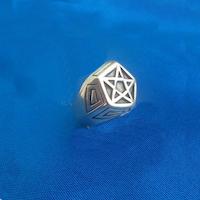 Ring med Pentagram i Silver