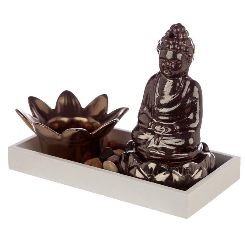 Buddha Lotus Värmeljushållare & Rökelsebrännare