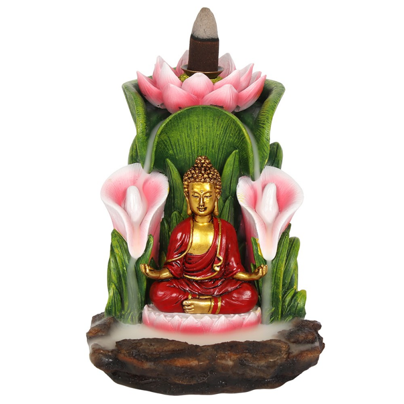 Backflow färgglad Buddha Fontän