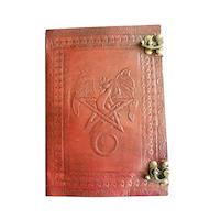 Skuggbok, läder med Pentagram och Drake