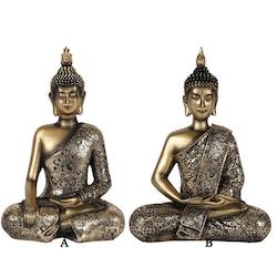 Buddha - Antik guld utseende