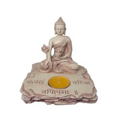Buddha Ljushållare Beige