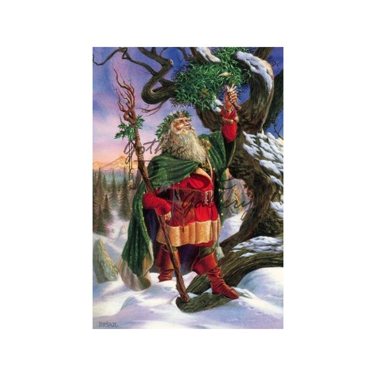 Samla in misteln - julkort