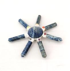 Lapis Lazuli, chakra Generatorkristall 7 armar
