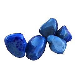 Agat - blå, trumlad