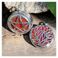 Hänge - Karneol Pentagram