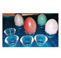 Kul/ägghållare, liten i plast