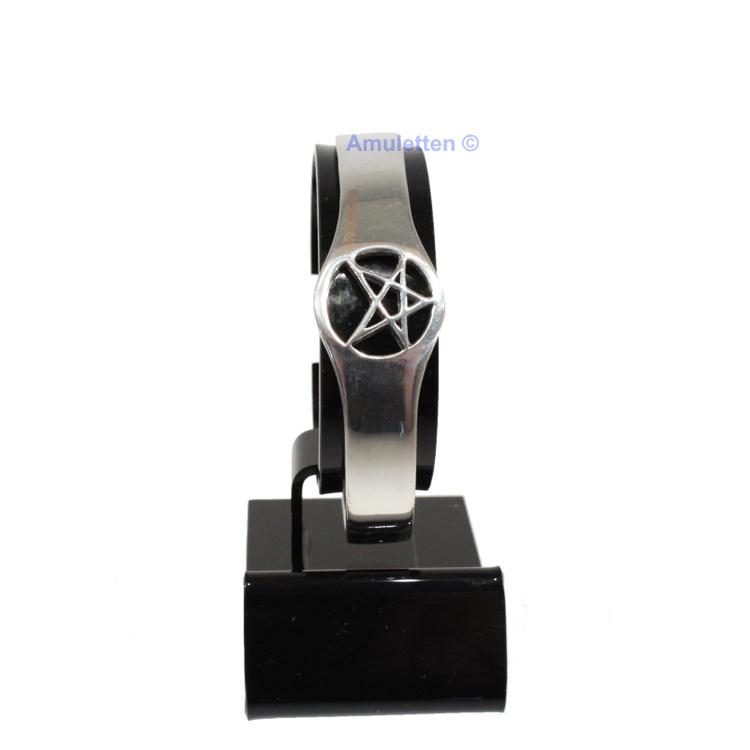 Armband i tenn med pentagram