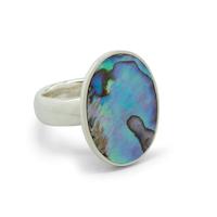 Ring med Paua-snäckskal Silver